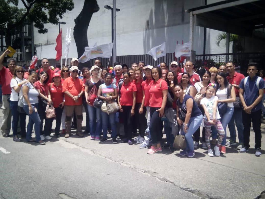 La Tesorería de Seguridad Social presente en la Gran Movilización Antiimperialista en Caracas